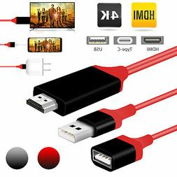 For Samsung Galaxy S10 iphone XS Type-C USB-C to HDMI HDTV H