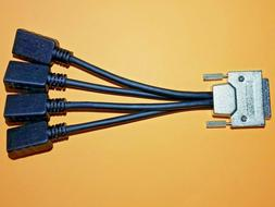 VHDCI to 4x Quad HDMI Monitor Split Breakout Cable Dell AMD